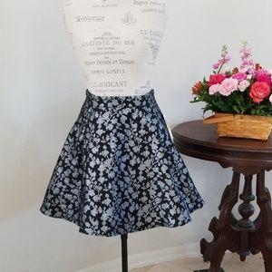 Gianni Bini Midnight Glam Metallic Skirt